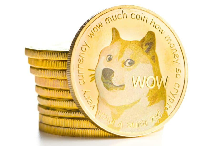 狗狗幣logo由一支可愛的柴犬組成