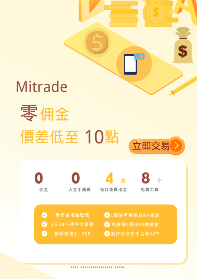 Mitrade-零佣金交易平台