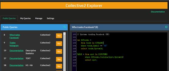 Collective2平臺提供的Explorer功能圖-外匯跟單平台有哪些