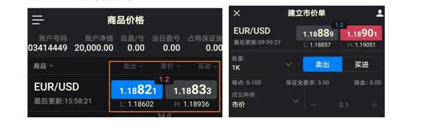 福匯市價單下單界面-玩外匯APP哪個好